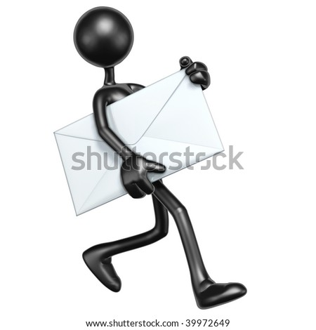 Carrying Mail Email - stock photo