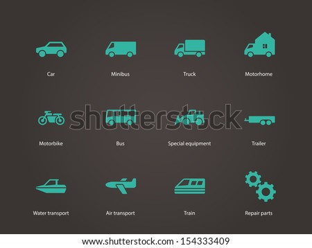 Cars and Transport icons. See also vector version. - stock photo