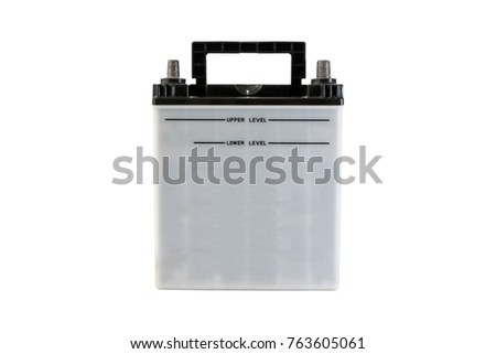 Cars battery isolated on white background with clipping path.
