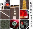 cars collage - high definition photo - stock