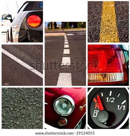 cars collage - high definition photo - stock photo