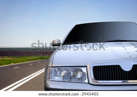 Cars on the highway - stock photo