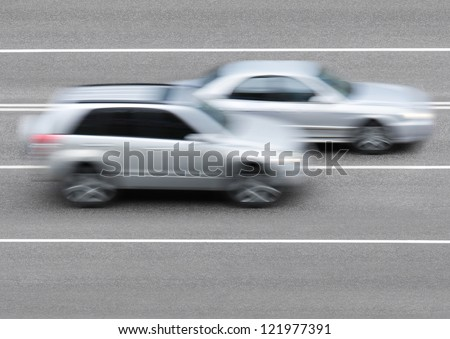 Cars on the road - stock photo