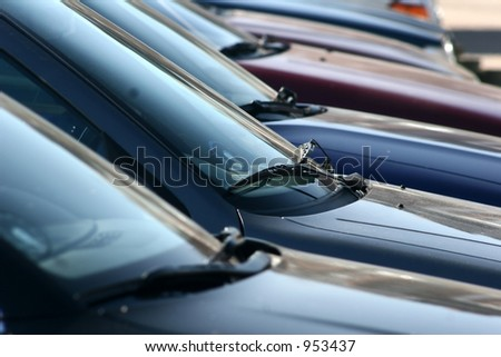 cars parked  in denmark