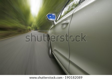Cars with woods - stock photo