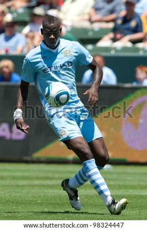 CARSON, CA. - July 24: Manchester City FC forward Mario Balotelli #45 during the World Football Challenge game on July 24 2011 at the Home Depot Center in Carson, Ca.