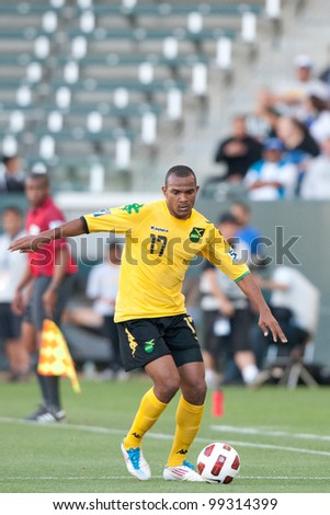 CARSON, CA. - JUNE 6: Jamaica M Rodolph Austin #17 in action during the 2011 CONCACAF Gold Cup group B game on June 6, 2011 at the Home Depot Center in Carson, CA.
