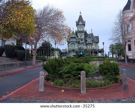Carson Mansion in Eureka, CA - stock photo