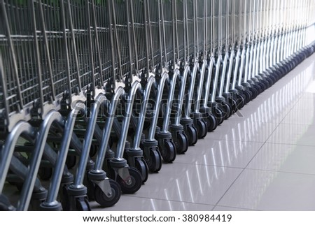 Cart in row. Element of design.