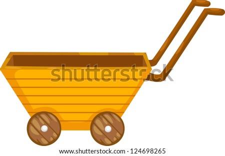 Cartoon Wooden Cart