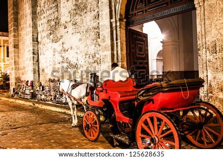 Cartagena de Indias at night, Colombia - stock photo