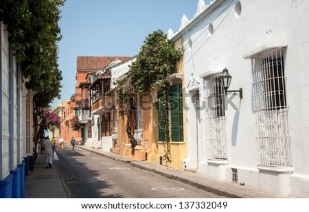Cartagena, one of the gems in Colombia - stock photo