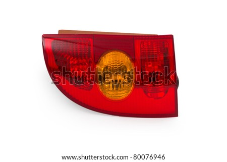 Cartail light iolated on white background - stock photo