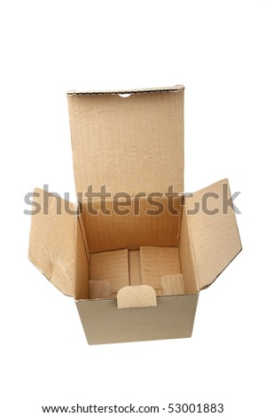 carton box , closeup, isolated background