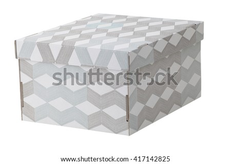 Carton box isolated on white. Include clipping path. - stock photo