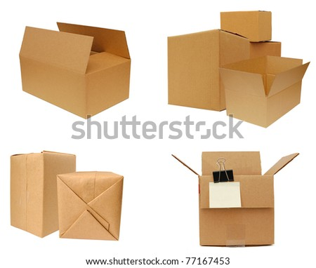 Carton boxes on shipping