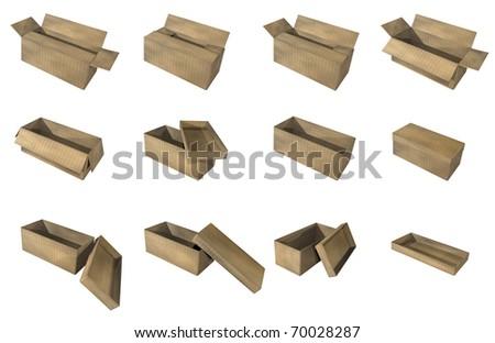 Carton pack - stock photo