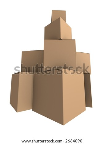 cartons - stock photo