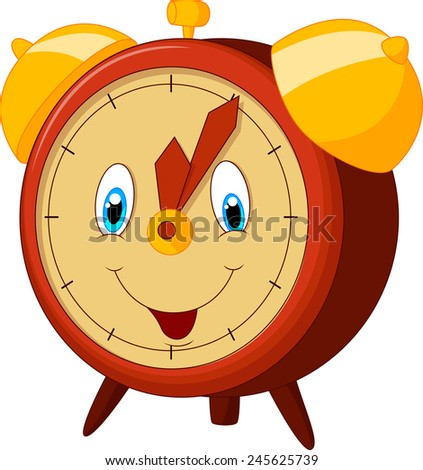 Cartoon alarm clock - stock photo