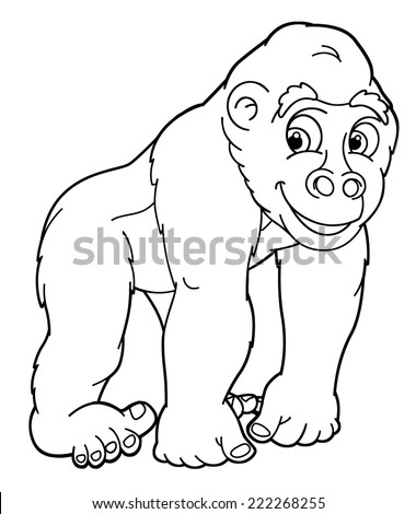 Angry gorilla coloring pages - photo#22