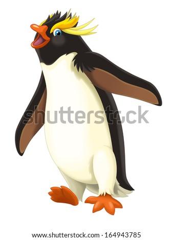 Cartoon animal - illustration for the children - stock photo