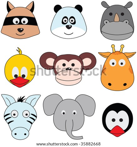 cartoon animals greeting sticker (series)