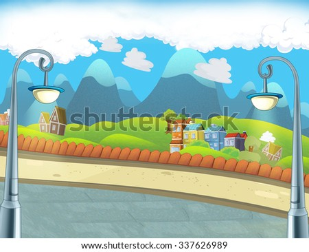 Cartoon background - illustration for the children