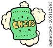 cartoon bag of potato chips - stock photo
