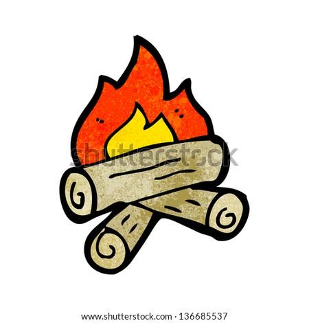 cartoon burning wood logs stock illustration 136685537 shutterstock rh shutterstock com fire wood log clipart Stack of Wood Clip Art