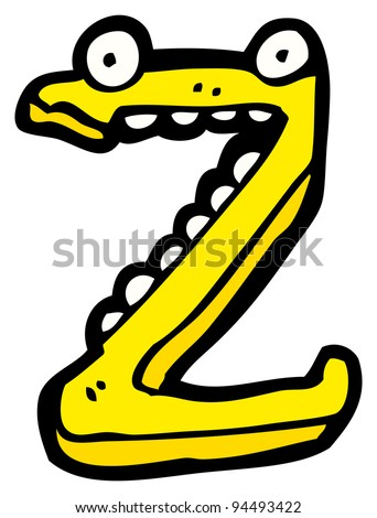 cartoon character letter z - stock photo