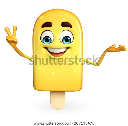 Cartoon Character of Candy with Victory pose