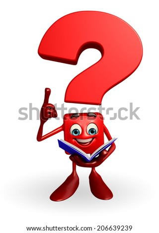 Cartoon Character of Question Mark Book