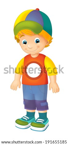 Cartoon child - activity - illustration for the children - stock photo
