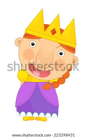 Cartoon child - illustration for the children - stock photo