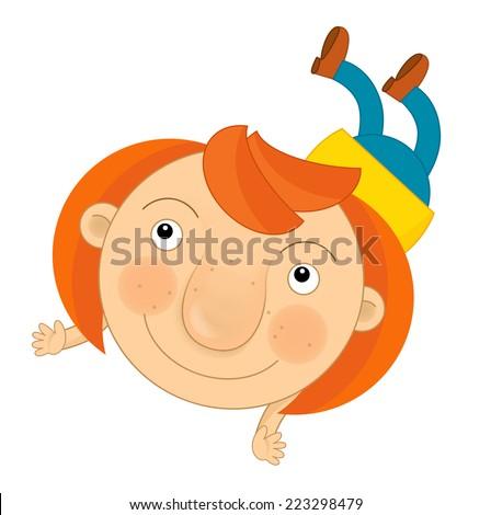 Cartoon child - illustration for the children - stock photo