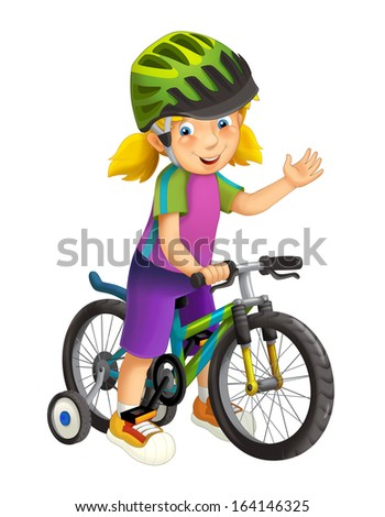 Cartoon children isolated - illustration for the children - stock photo