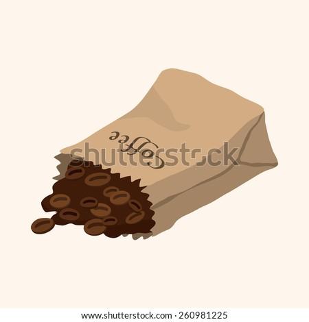 cartoon coffee bean  - stock photo