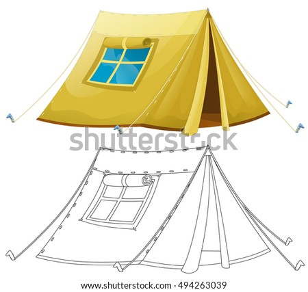 Cartoon Army Tent