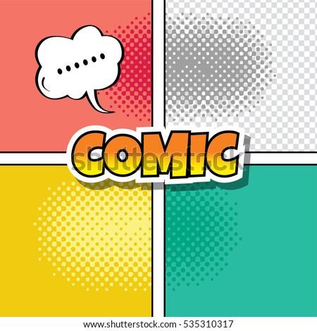 cartoon comic book template theme stock illustration 535310317