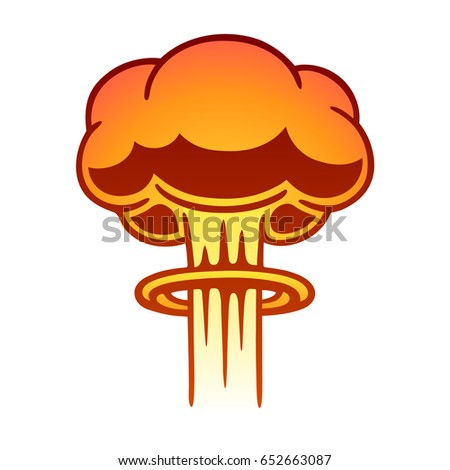 cartoon comic style nuclear mushroom cloud stock illustration rh shutterstock com explosion clip art free explosion clip art animations