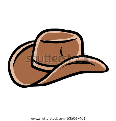 cartoon cowboy hat stock illustration 535067401 shutterstock rh shutterstock com cartoon cowboy hat clipart cartoon cowboy hat png