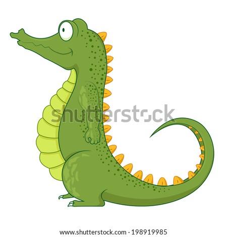 Cartoon crocodile design  - stock photo