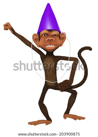 cartoon 3d monkey dancing