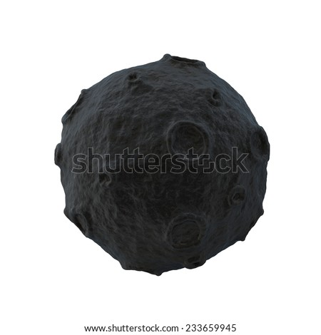 cartoon 3d moon - stock photo