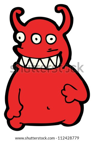 cartoon devil monster