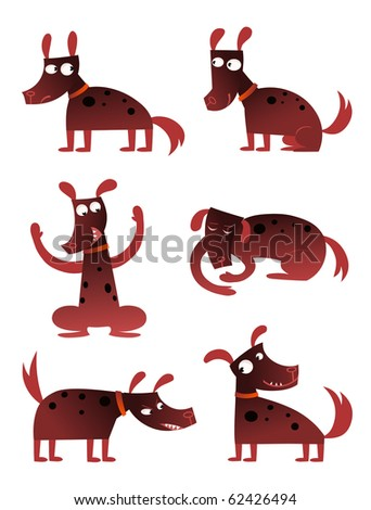 Cartoon dog - raster - stock photo