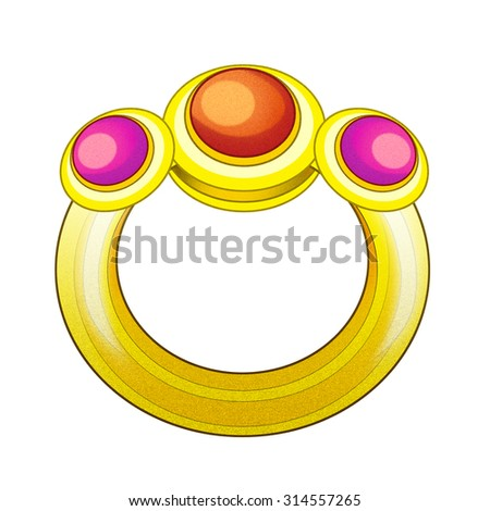 Cartoon element - illustration for the children - stock photo