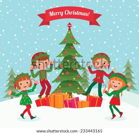 Merry Christmas Happy New Year Stock Vector 346545263 - Shutterstock