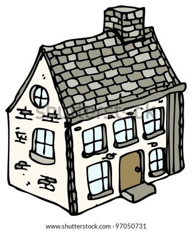 cartoon farmhouse stock illustration 97050731 shutterstock rh shutterstock com cartoon farm house pics cartoon farm house pics