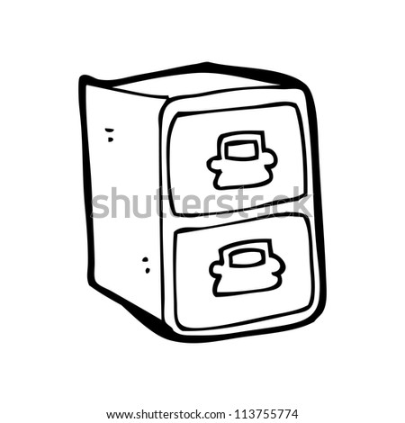Cartoon Filing Cabinet Stock Illustration 113755774 - Shutterstock
